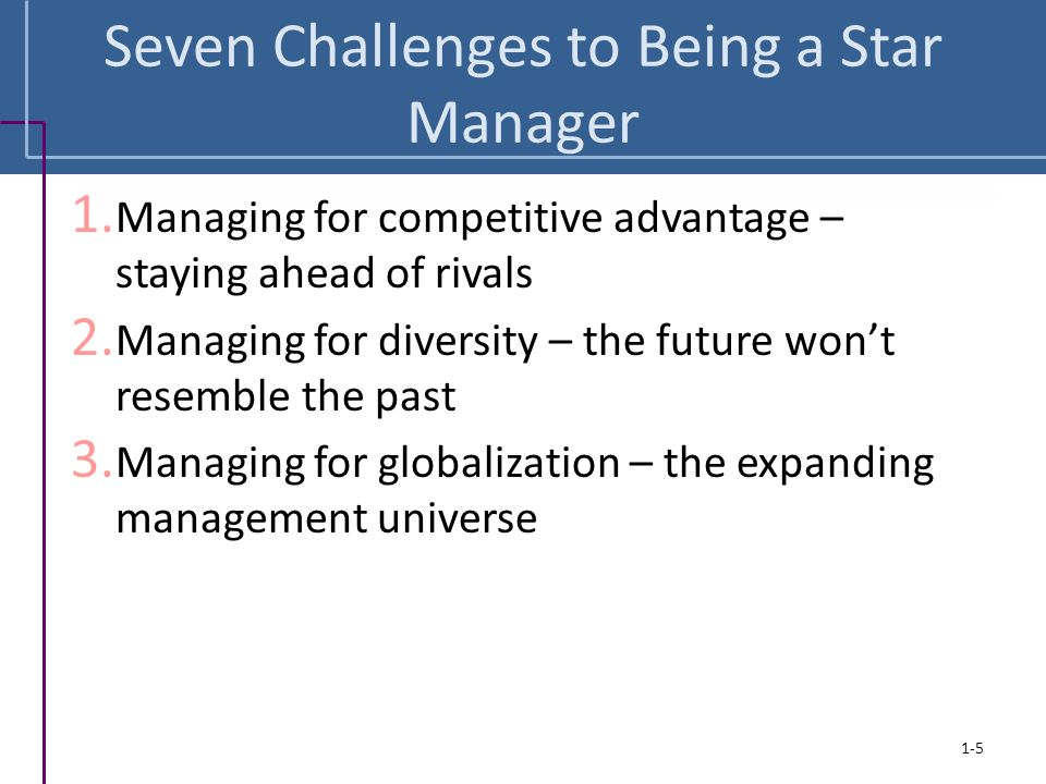 Seven Challenges to Being a Star Manager