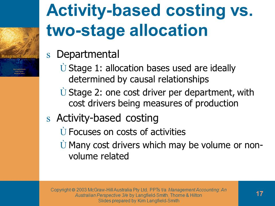 Activity-based costing vs. two-stage allocation