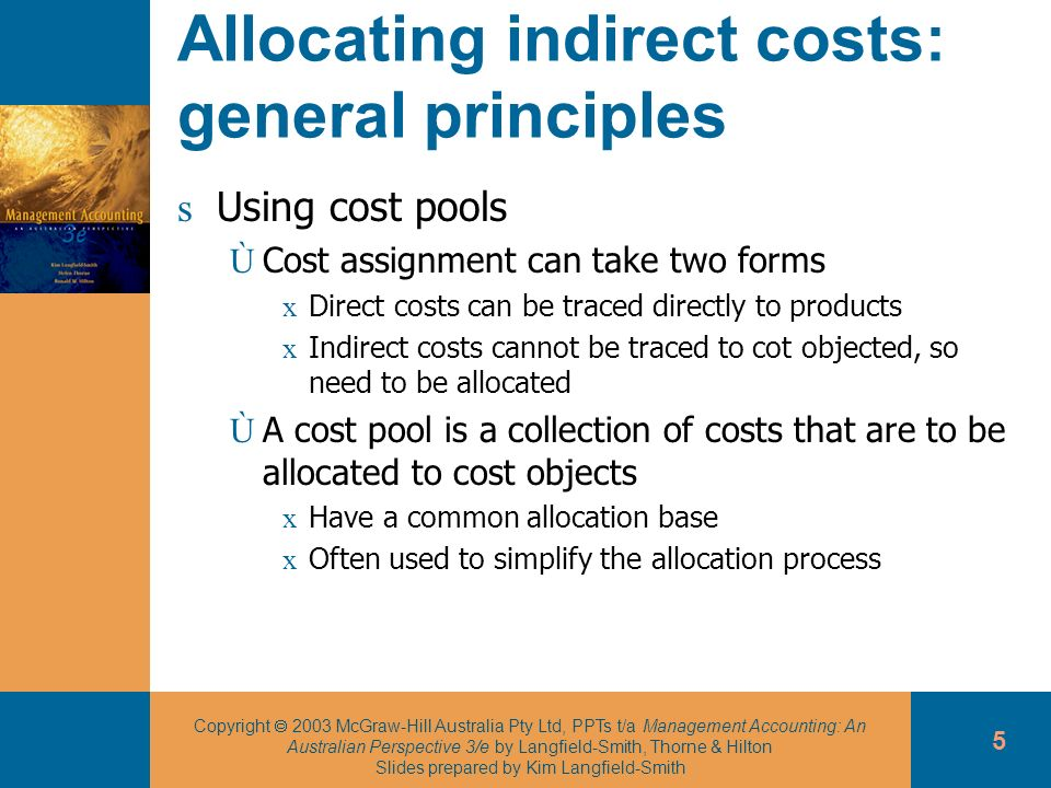 Allocating indirect costs: general principles