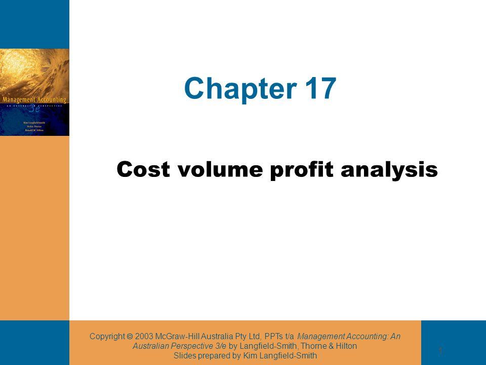 Cost volume profit analysis