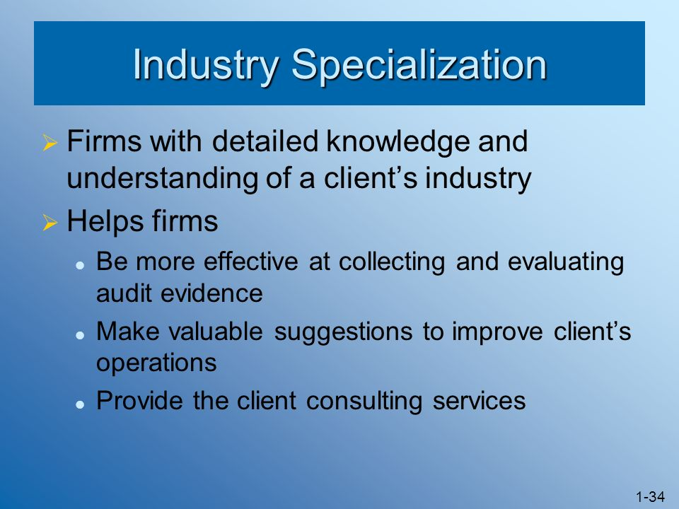 Industry Specialization