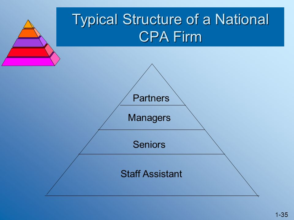 Typical Structure of a National CPA Firm