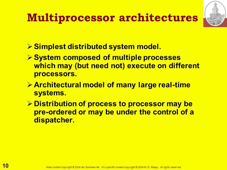 Multiprocessor architectures