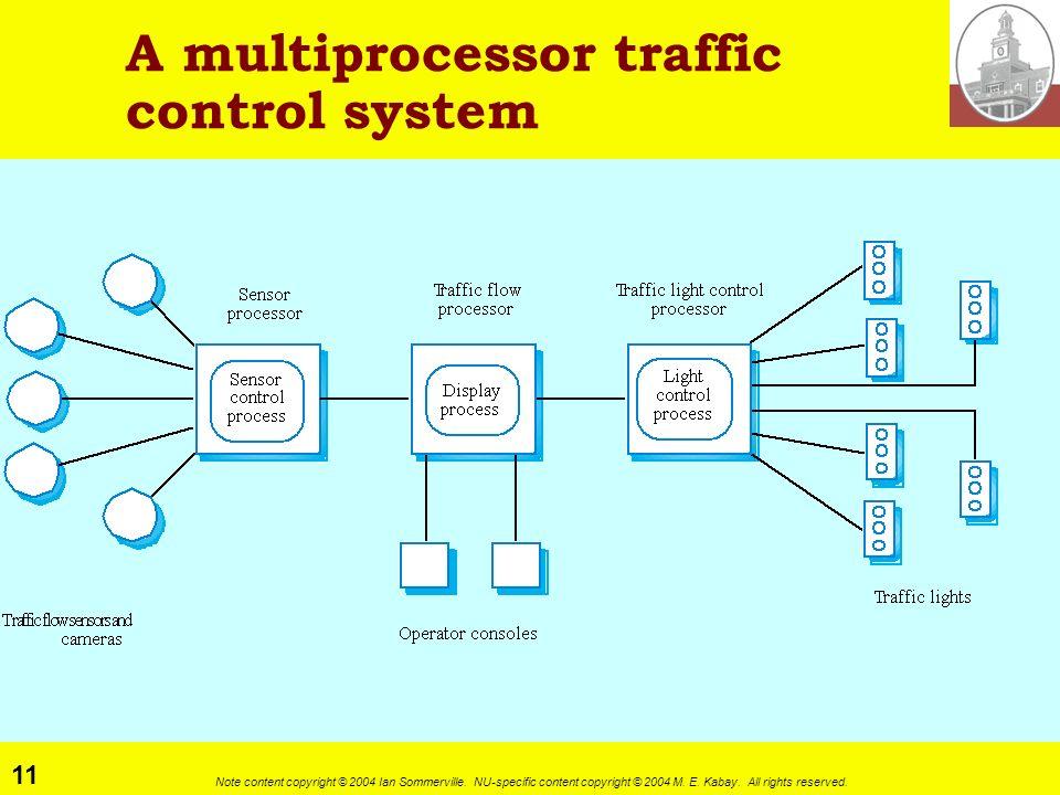 A multiprocessor traffic control system