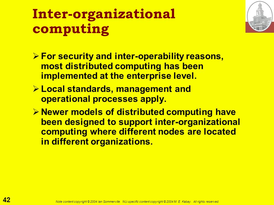 Inter-organizational computing