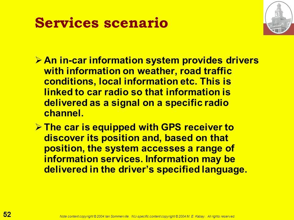 Services scenario