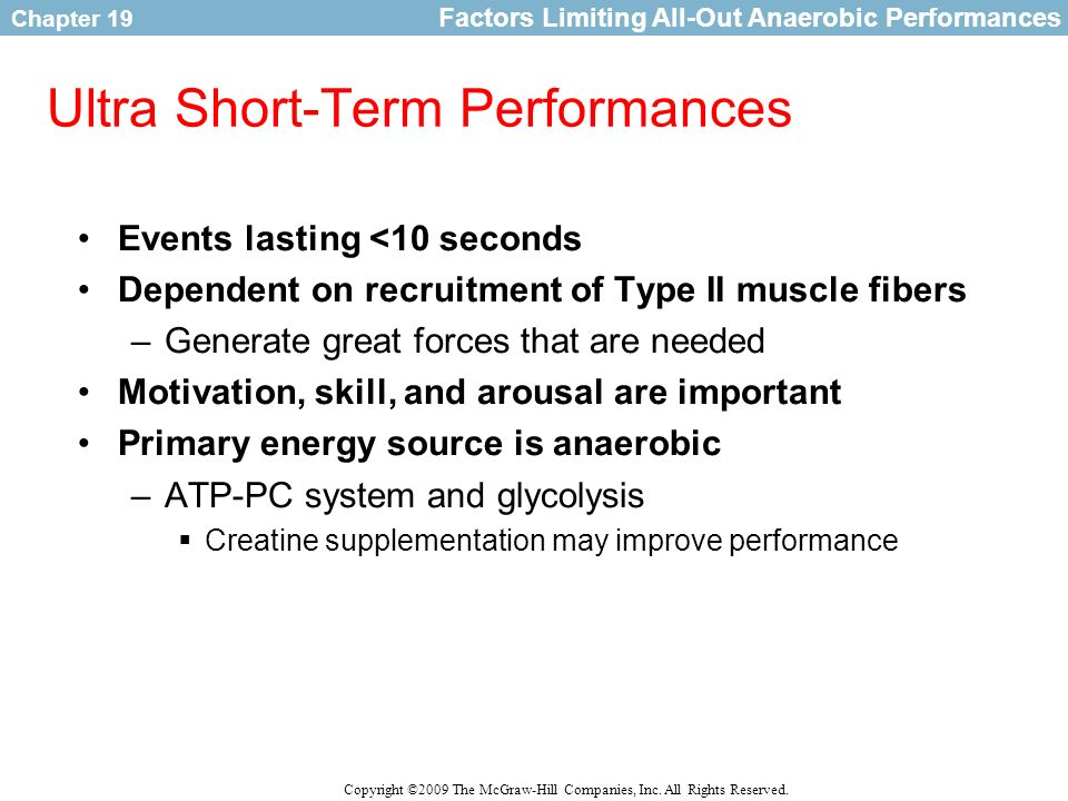 Ultra Short-Term Performances