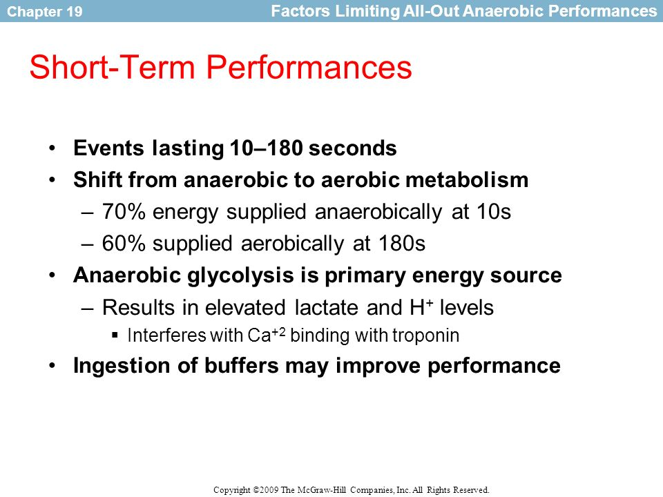 Short-Term Performances