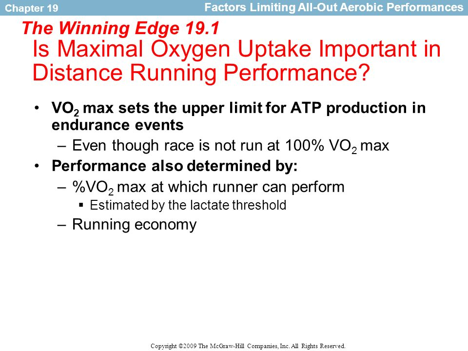 Factors Limiting All-Out Aerobic Performances