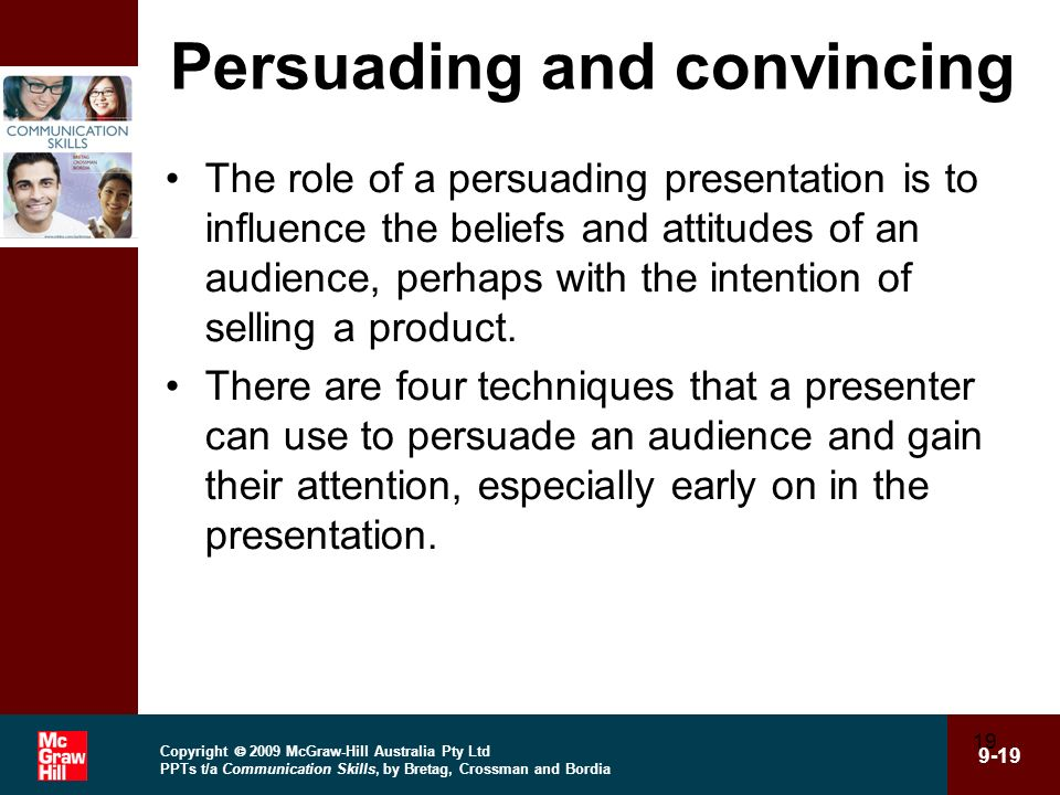 Persuading and convincing
