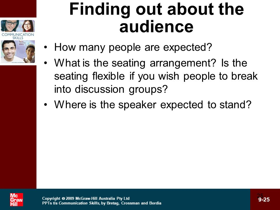 Finding out about the audience