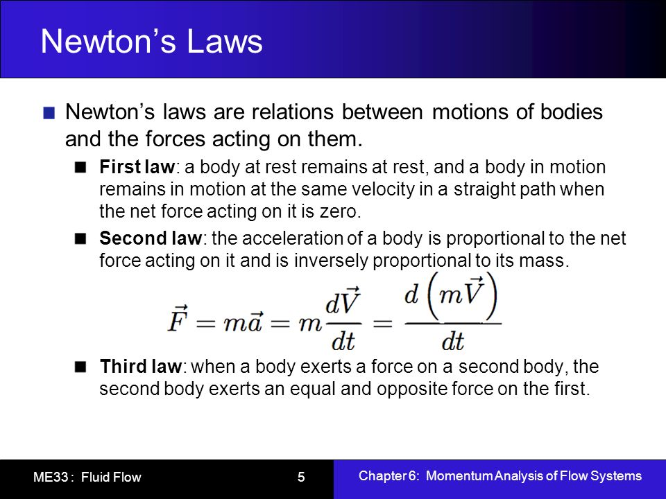 Newton's Laws Newton's laws are relations between motions of bodies and the forces acting on them.