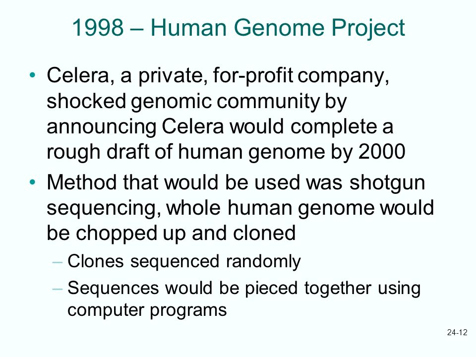 1998 – Human Genome Project