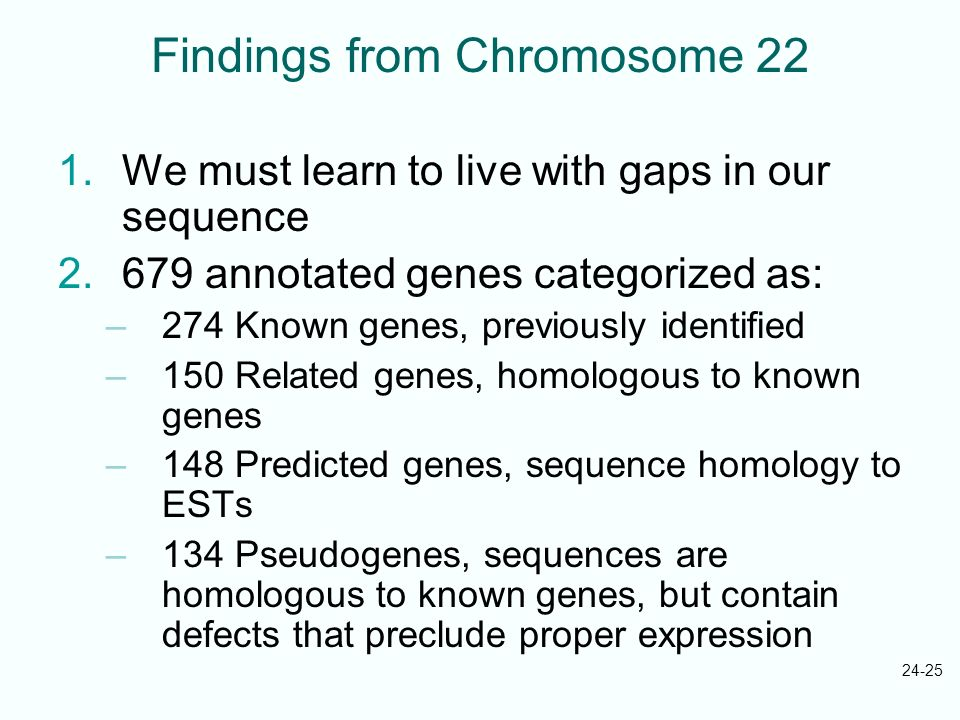 Findings from Chromosome 22