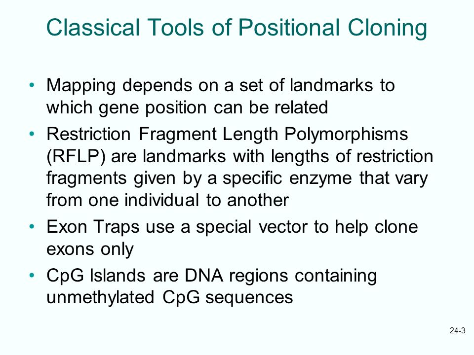 Classical Tools of Positional Cloning
