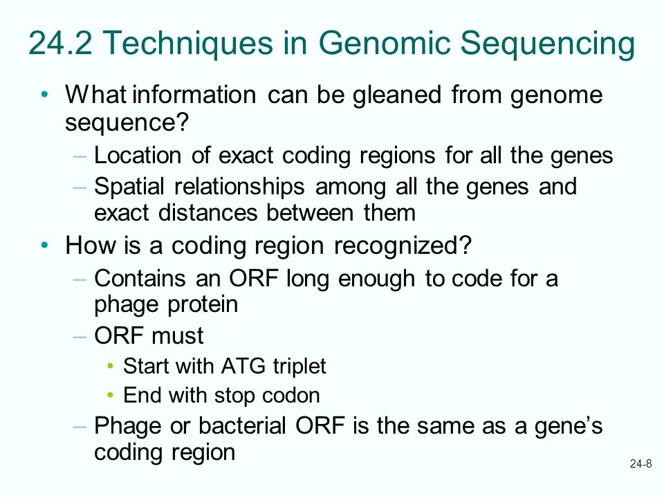 24.2 Techniques in Genomic Sequencing