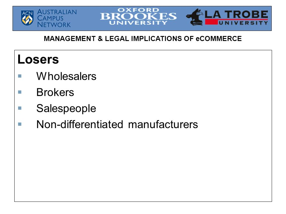Losers Wholesalers Brokers Salespeople