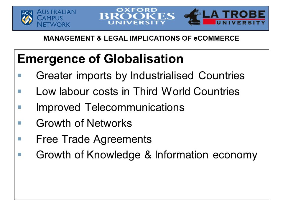 Emergence of Globalisation