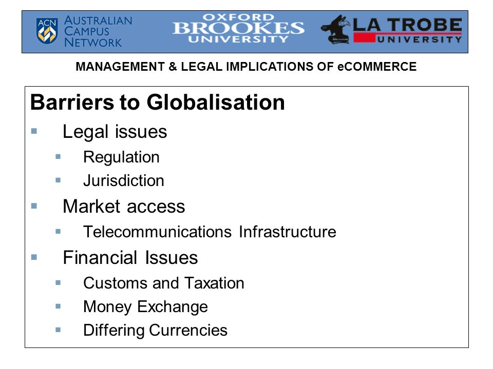 Barriers to Globalisation