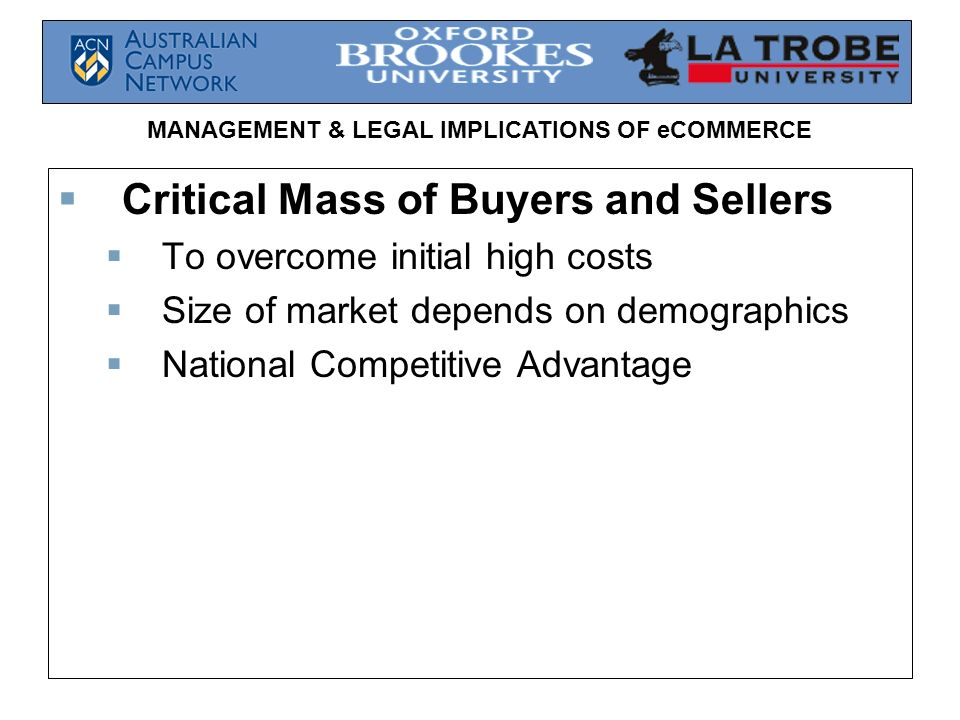 Critical Mass of Buyers and Sellers