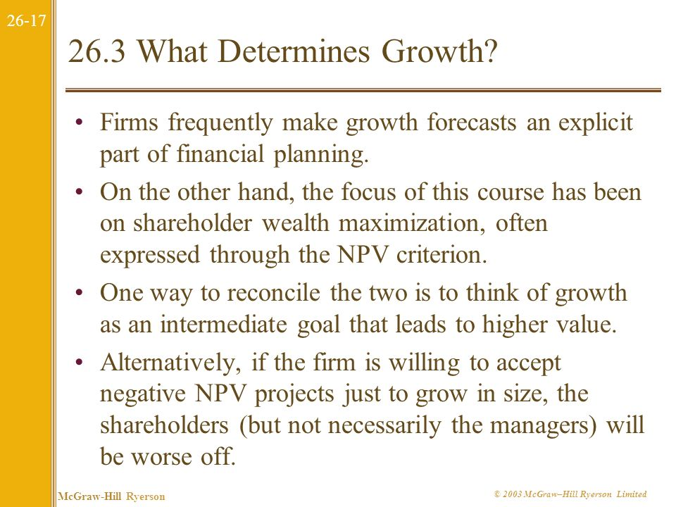 26.3 What Determines Growth