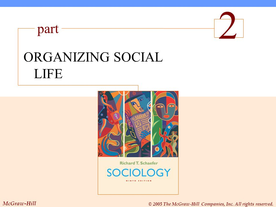 ORGANIZING SOCIAL LIFE The Sociological Perspective