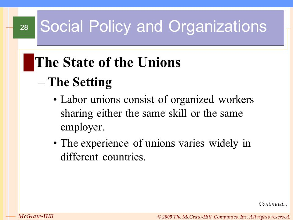 Social Policy and Organizations