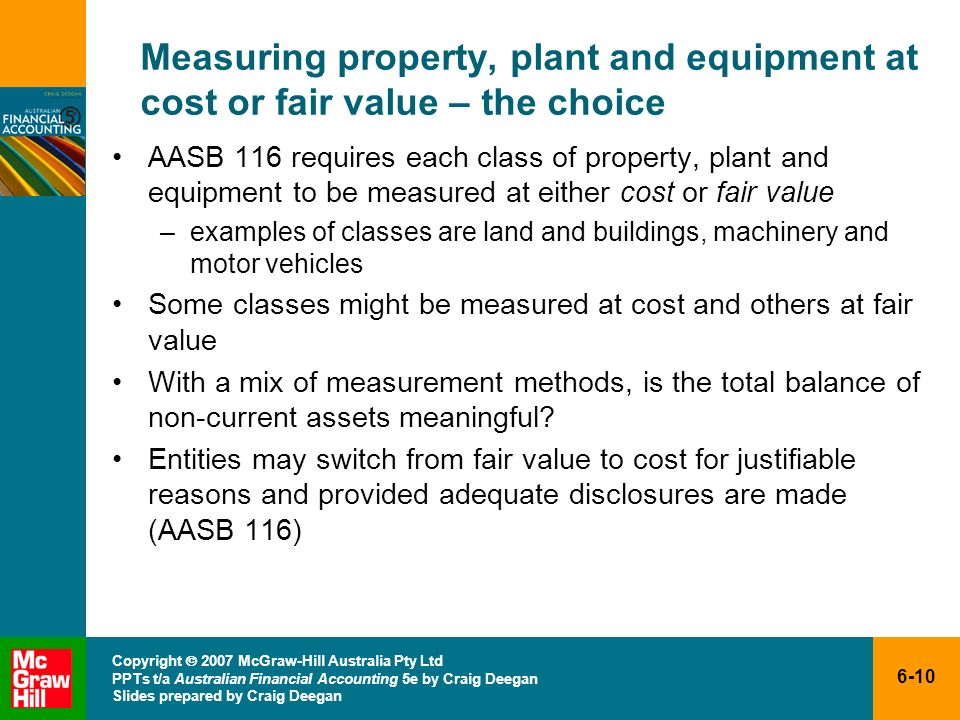 Measuring property, plant and equipment at cost or fair value – the choice
