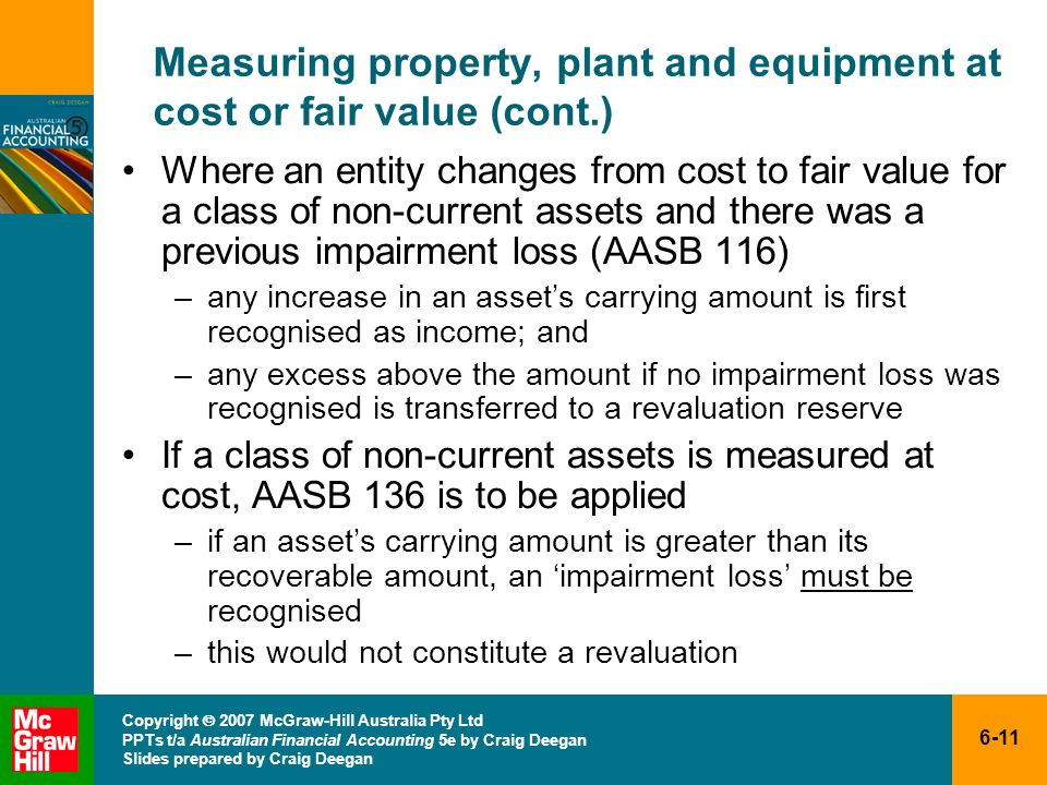 Measuring property, plant and equipment at cost or fair value (cont.)