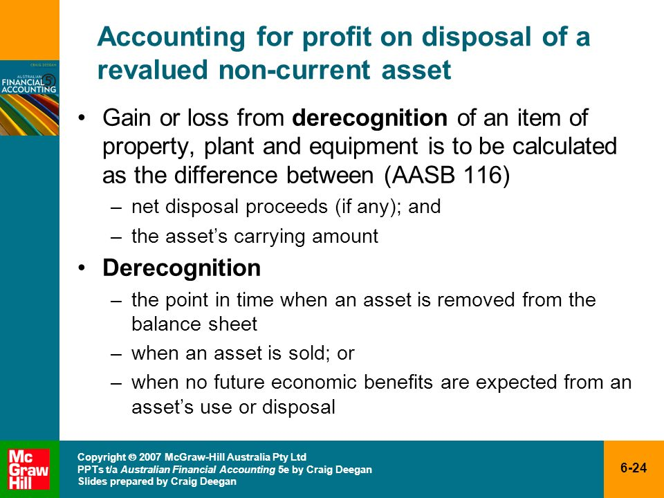 Accounting for profit on disposal of a revalued non-current asset