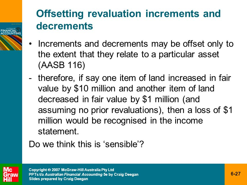Offsetting revaluation increments and decrements
