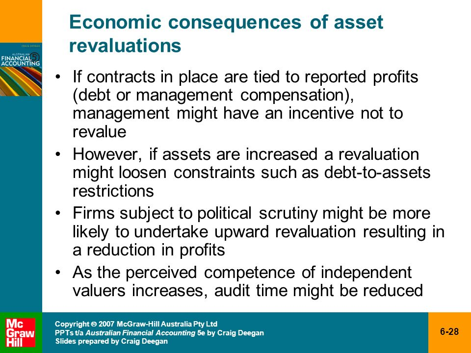 Economic consequences of asset revaluations