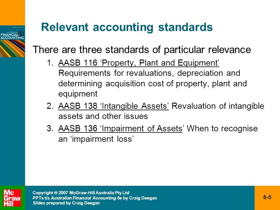 Relevant accounting standards