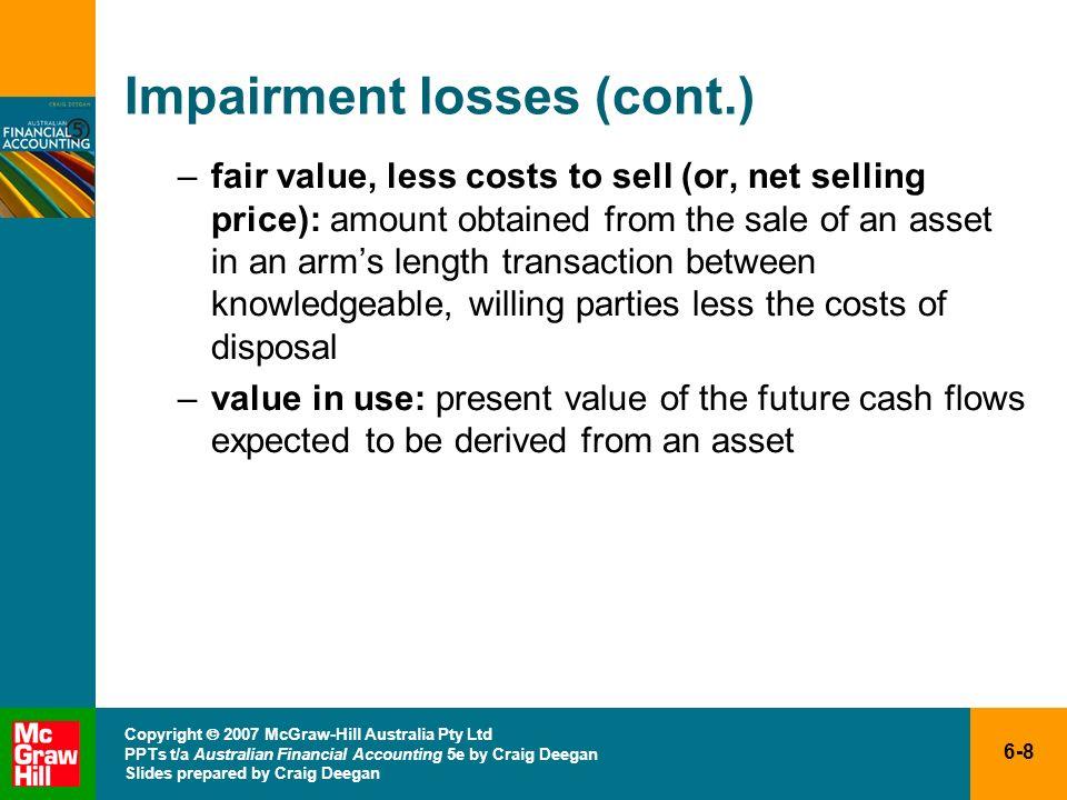 Impairment losses (cont.)
