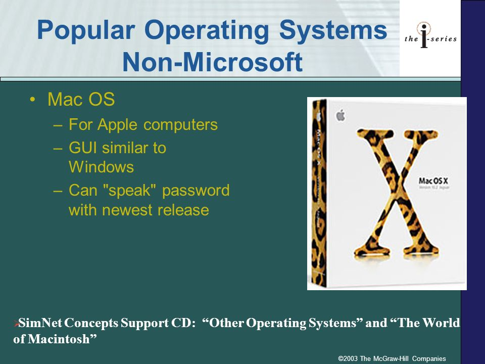 Popular Operating Systems Non-Microsoft
