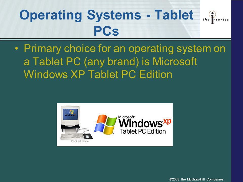 Operating Systems - Tablet PCs