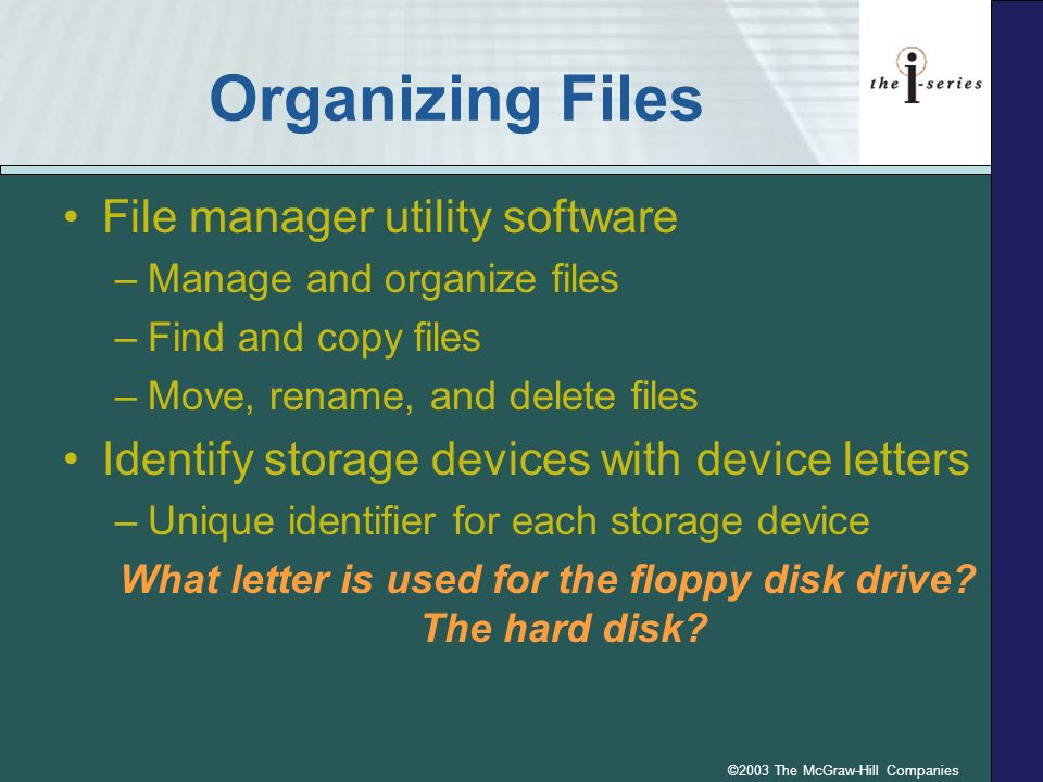 What letter is used for the floppy disk drive The hard disk