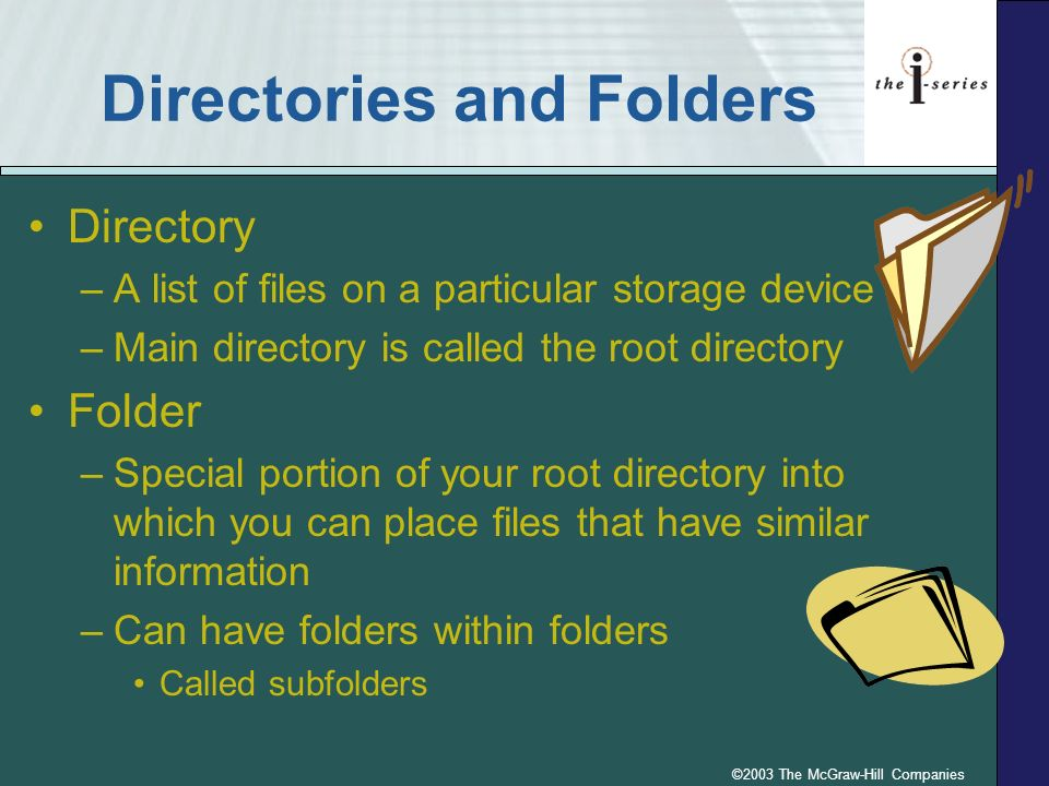 Directories and Folders