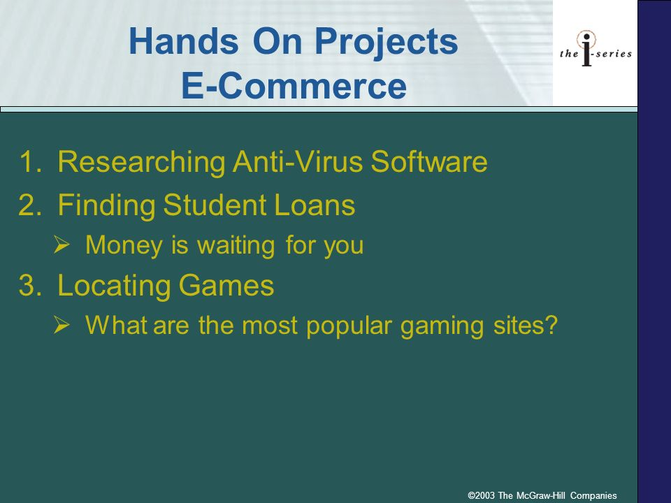 Hands On Projects E-Commerce