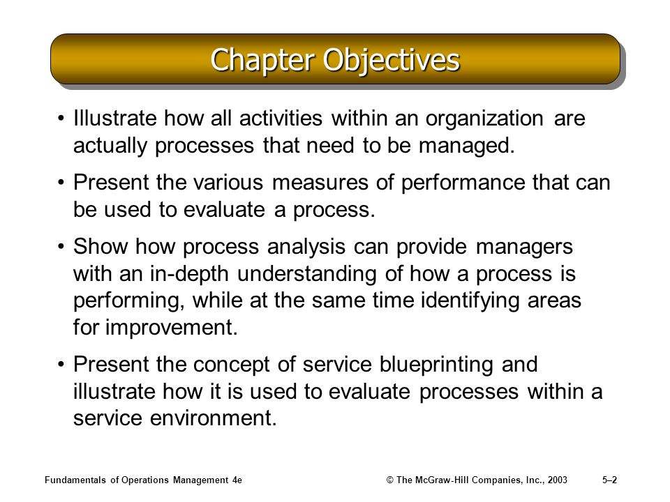 Chapter Objectives Illustrate how all activities within an organization are actually processes that need to be managed.