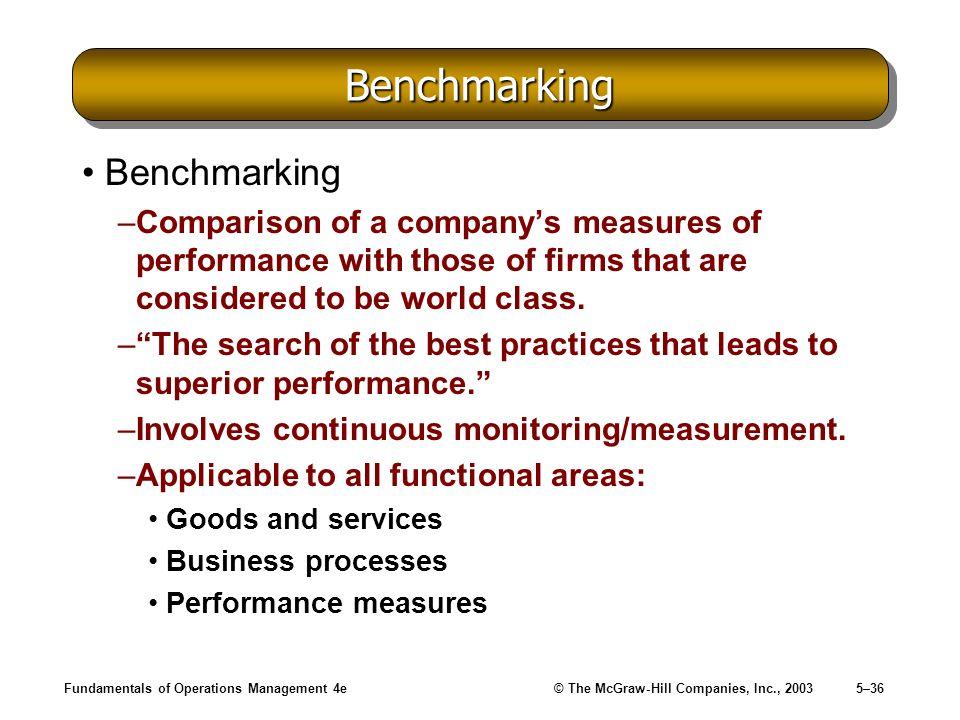 Benchmarking Benchmarking