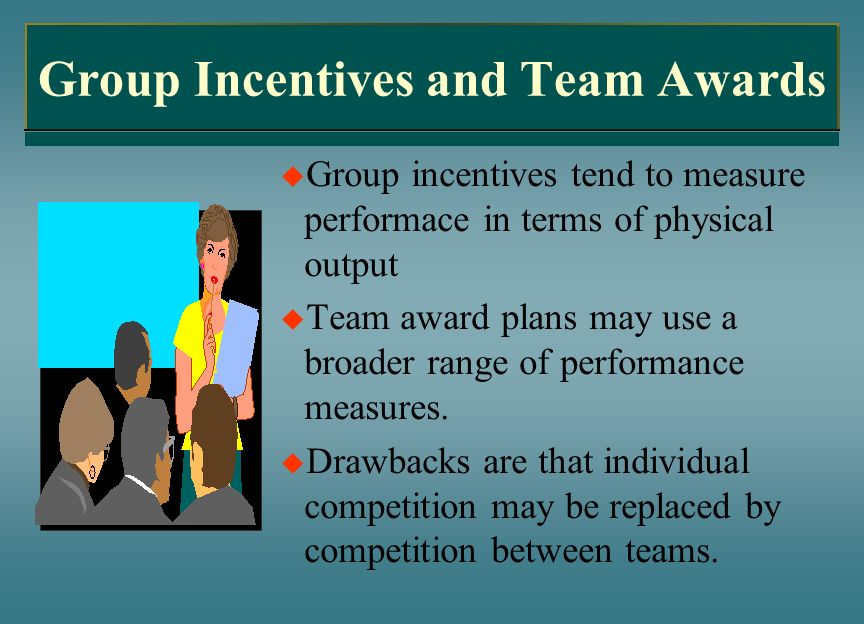 Group Incentives and Team Awards