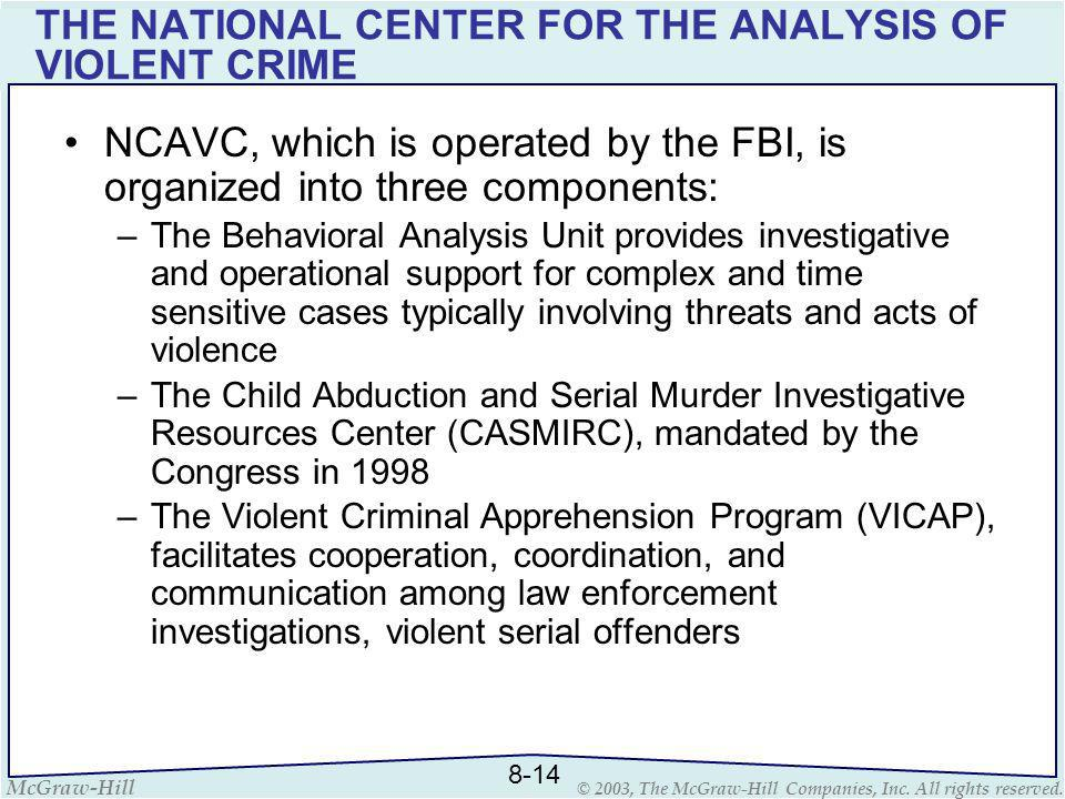 THE NATIONAL CENTER FOR THE ANALYSIS OF VIOLENT CRIME