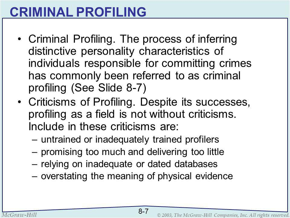 investigative resources ppt  criminal profiling