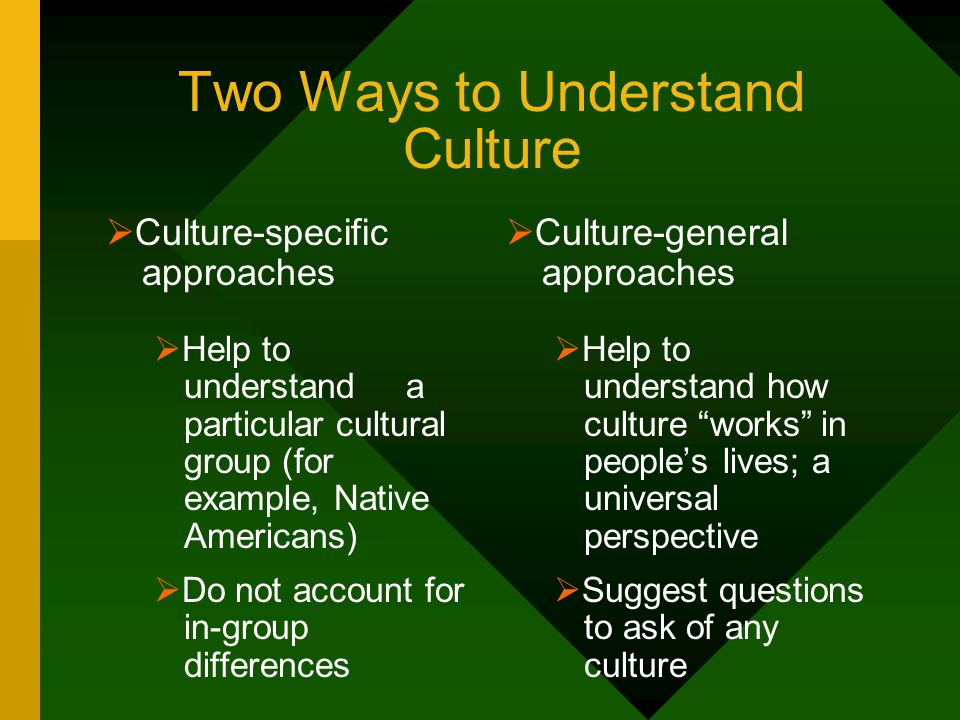 Two Ways to Understand Culture