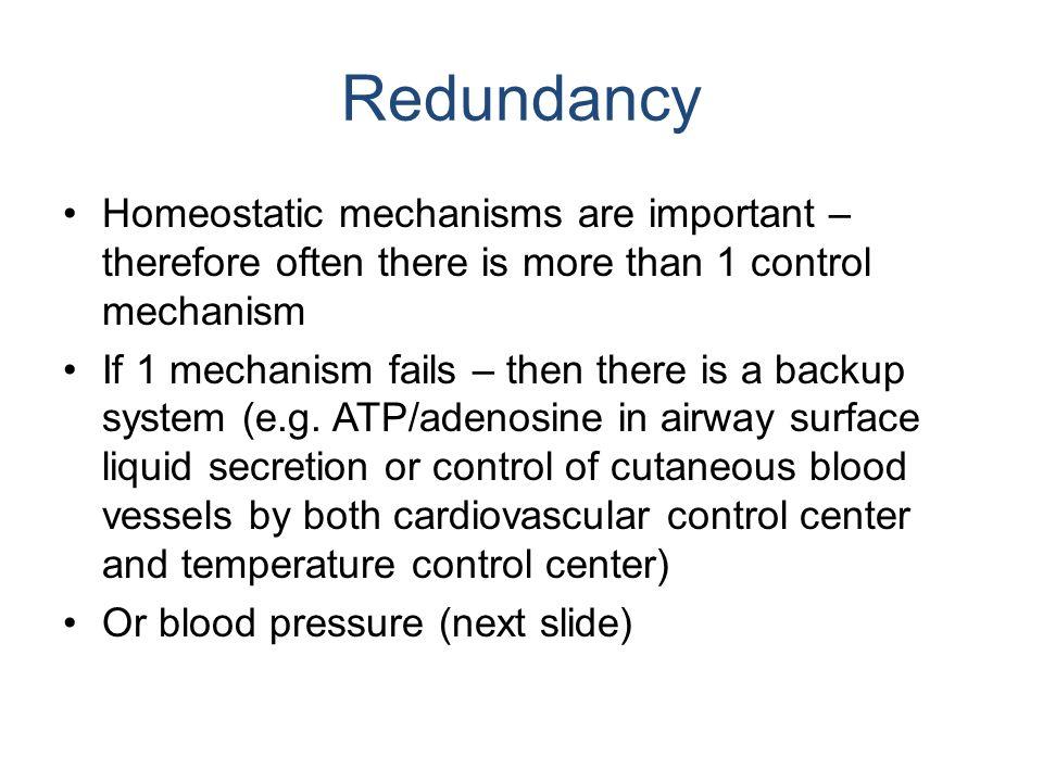 homeostatic mechanism