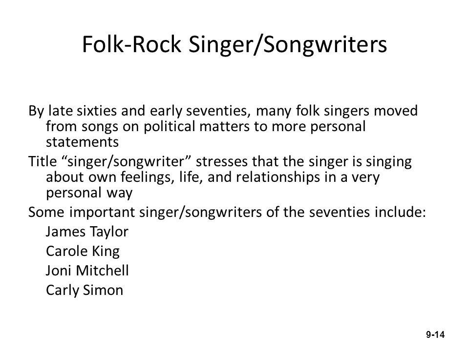 Folk-Rock Singer/Songwriters