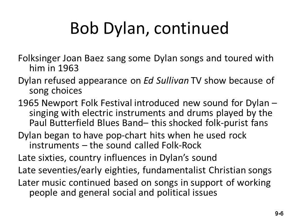 Bob Dylan, continued