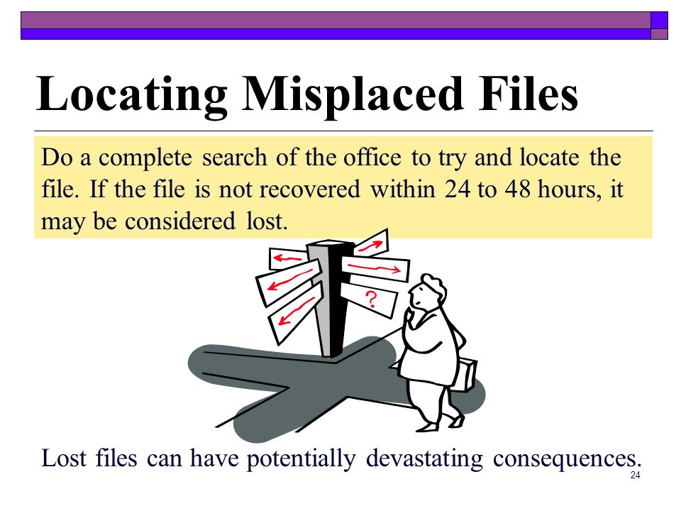 Locating Misplaced Files