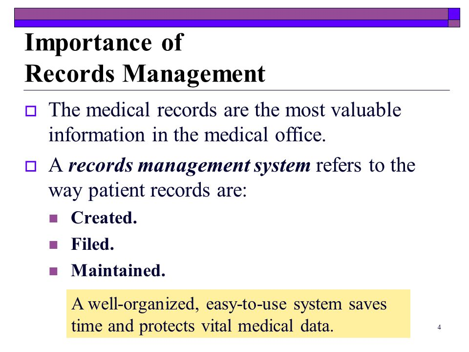 Importance of Records Management